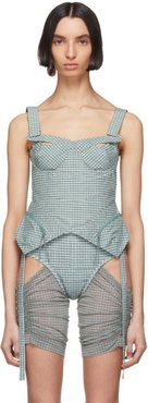 Blue Check Tactical Bustier