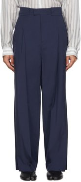 Navy Extra Fine Wool Trousers