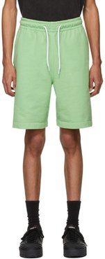 Green Garment Washed Terry Shorts