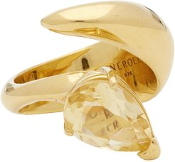 SSENSE Exclusive Gold and Yellow Citrine Alien Ring