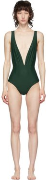 Green One-Piece Swimsuit