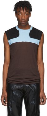 Burgundy and Blue Release Combo Lupetto Tank Top