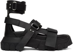 Black Ankle Strap Tractor Sandals