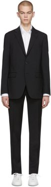 Black Natural Stretch Wool Suit