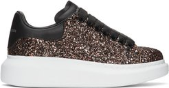 SSENSE Exclusive Black and Red Galaxy Glitter Oversized Sneakers