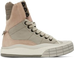 Pink and Beige Clint High-Top Sneakers