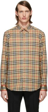 Beige Vintage Check Shirt