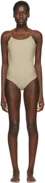 SSENSE Exclusive Beige One-Piece Swimsuit