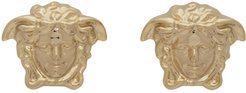 Gold Medusa Stud Earrings