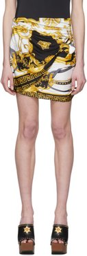 Black and Gold Wrapped The Rodeo Queen Miniskirt