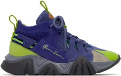 Blue and Green Squalo Hiker Sneakers