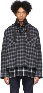 Black and Grey Ombre Check Shirt