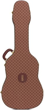 Burgundy and Tan Ophidia Guitar Case