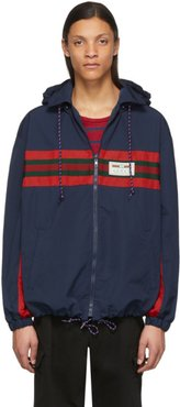 Navy and Red Technical Waterproof Jacket