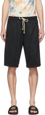 Black Technical Jersey GG Shorts