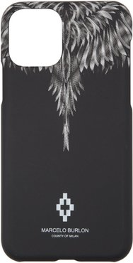 Black and White Sharp Wings iPhone 11 Pro Case