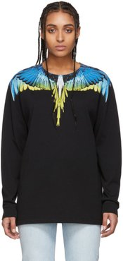 Black and Yellow Wings Long Sleeve T-Shirt