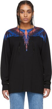 Black and Pink Wings Long Sleeve T-Shirt