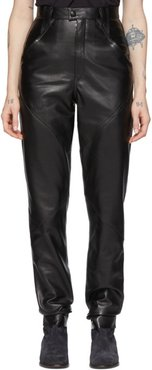 Black Leather Xenia Pants