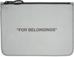 Grey Quote Pouch