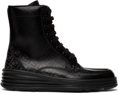 Black Forever Fendi Lace-Up Boots