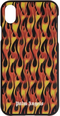 Black and Red Flames iPhone XR Case