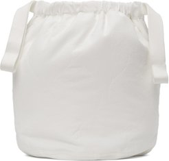 White Quilted Personal Pouch