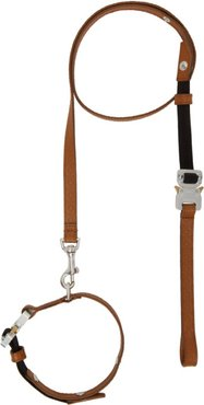 Brown Small Dog Collar and Leash Set