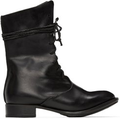 Black Overlap Boots