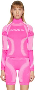 Pink Active Sport Turtleneck