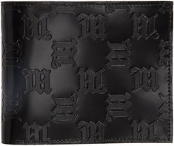 Black Embossed Monogram Bifold Wallet