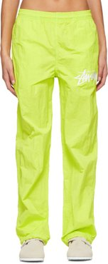 Green Stussy Edition NRG Beach Track Pants