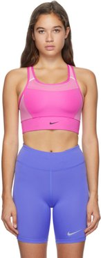 Pink Swoosh Sports Bra