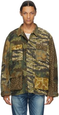 Green Camo Cinched Waist Abu Jacket