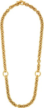 Gold Polished Triple Necklace