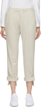 Beige Tailored Classic Track Pants