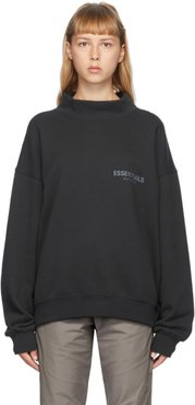 Black Mock Neck Sweatshirt