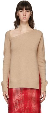 Beige Wool and Cashmere Sweater