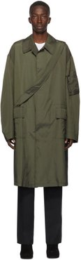 Green Punched Trench Coat