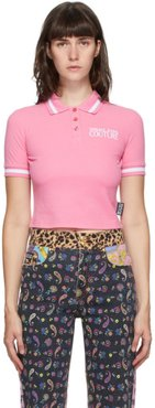 Pink Crop Institutional Logo Polo