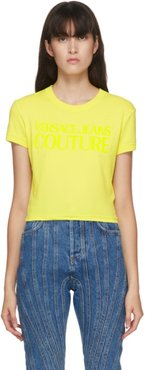 Yellow Cropped Logo T-Shirt