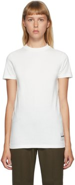 Three-Pack Off-White Lower Patch T-Shirts