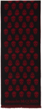 Black and Red Skull Scarf