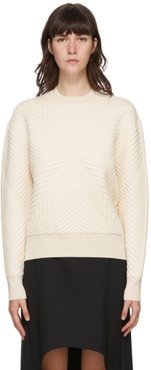 Off-White Quilted Knit Sweater