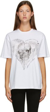 White Love Notes Skull T-Shirt