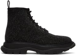 Black Galaxy Lace-Up Boots
