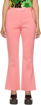 Pink Chain Flared Trousers