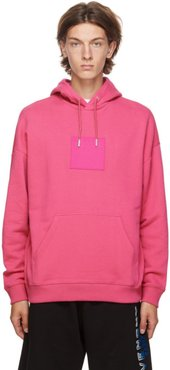 Pink Address Logo Patch Hoodie