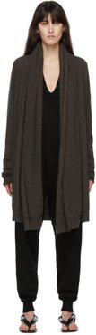 Green Cashmere Big Neck Straight Cardigan