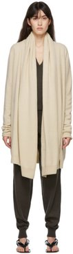 Off-White Cashmere Big Neck Straight Cardigan